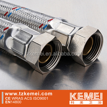flexible hose large bore, EPDM inner tube, 304 stainless steel braided, used for water and gas