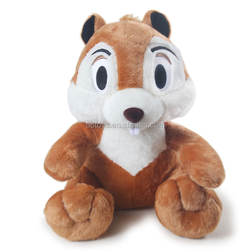 plush dog toys squirrel with custom logo