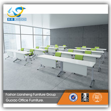 China Wholesale Movable Conference Room Table with Metal Bases for UAE