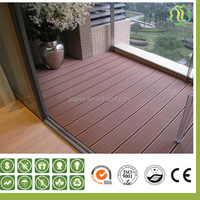 red sandalwood look wpc synthetic wood flooring/wpc decking