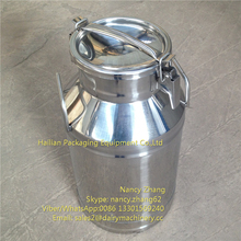 Stainless Steel Round Storage Containers for Oil