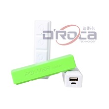 Plastic Portable charger for moblie phone, 2600mah power bank, chocolate battery charger