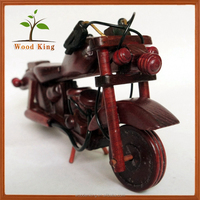 Wholesale Pine Wooden Model Home Furnishing Articles Children Toys Wood Craft Models Toy Motorcycle