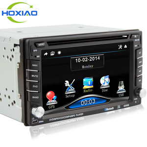 6206B model Double din car dvd player universal with a radio touch screen Stereo player