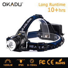 Rechargeable 10-watt cree t6 led headlights