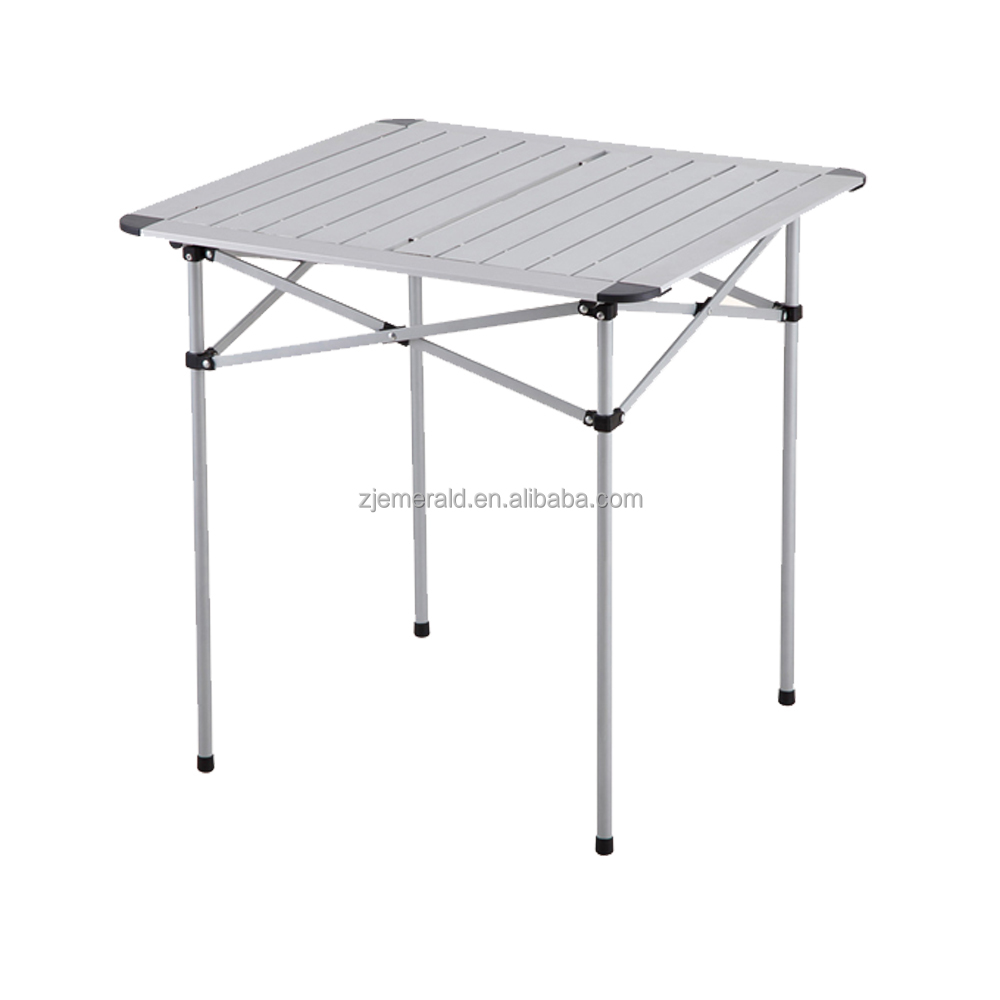 aluminum small portable folding table in carry case