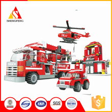 Developing kids intelligence mini fire truck foam building blocks