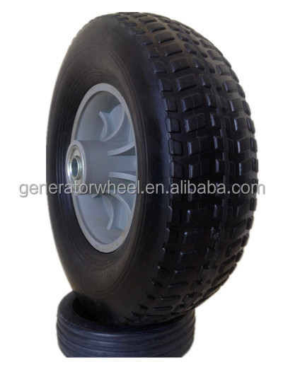 "10"" solid rubber wheels for push golf cart, garden caddy, wheelbarrow"