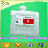 PFI 306 empty refillable cartridge with chip for Canon IPF8410 9410