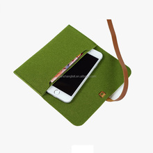 Biodegradable felt mobile phone carry bag from China supplier