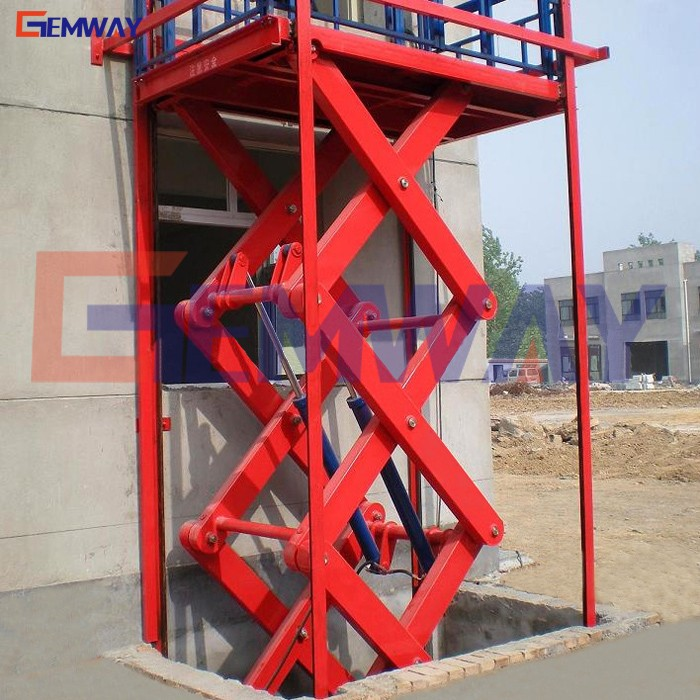Warehouse stationary loading in-ground scissor lift table