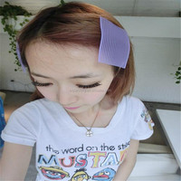 huizhou hair accessories wholesale,colorful and beautiful purple hair curler tape for girl
