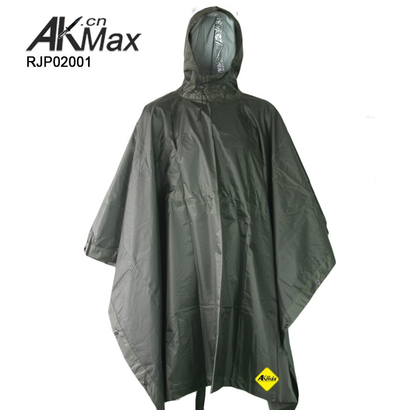 Government Issue Strong Wateproof Rain Poncho With Ground Sheet and Tent Purpose