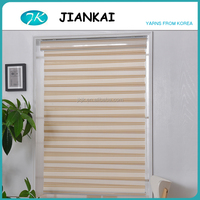 JK 2016 new design fabric curtains and blinds with pleat,colored one way window blinds, window blinds for home decor