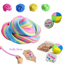 Factory wholesale Fluffy Floam Slime Stress Relief Toy Scented Sludge Toys 4 Colors Fluffy diy slime kit