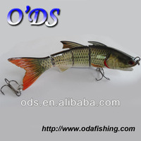 Hot selling!!! 2014 popular new special design 4-section&metal-jointed strong body hard tail minnow fishing lure