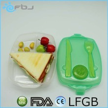 Custom Logo BPA Free Plastic food container 3 compartment microwave