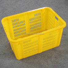 HDPE plastic stackable mesh type fruits container orange plastic crate