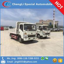 Made in China HOWO 5 tons small tipper trucks for sale in Ghana