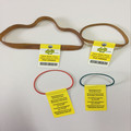 Rubber band tag tie for food/vegetable packaging
