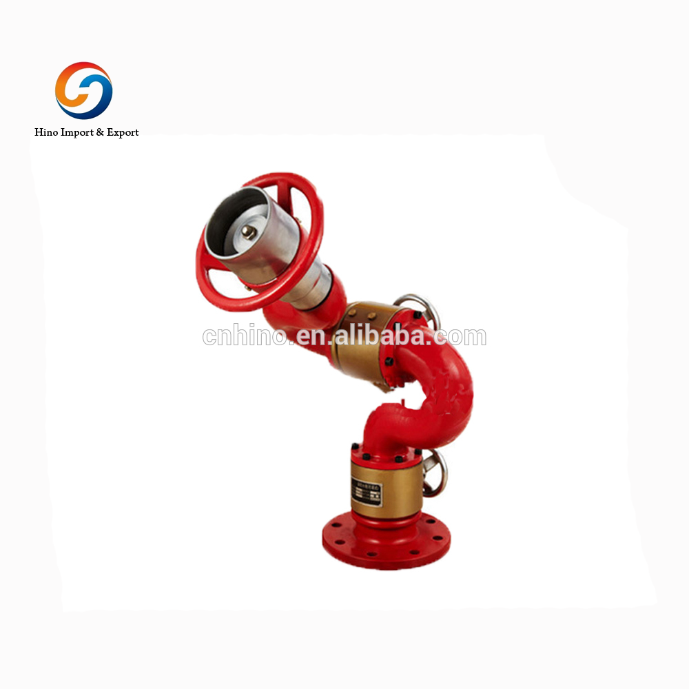 water foam spraying fire monitor fire hose hydrant