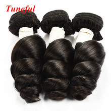 Top quality Brazilian loose wave human hair bundles 7A Grade loose wave halo hair extensions