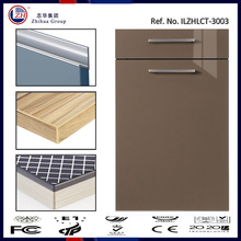 High gloss vinyl wrapped acrylic kitchen cabinet door