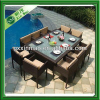 outdoor rattan 10 seater dining table set