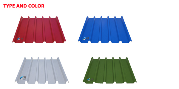 Trapezoidal galvanized roofing sheet(YX30-160-800)