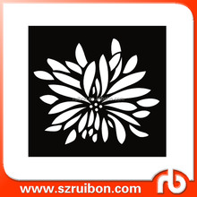 New design-Wall Stencil Chrysanthemum-Reusable DIY Decor-Round Modern Flower Drawing Templates Stencil