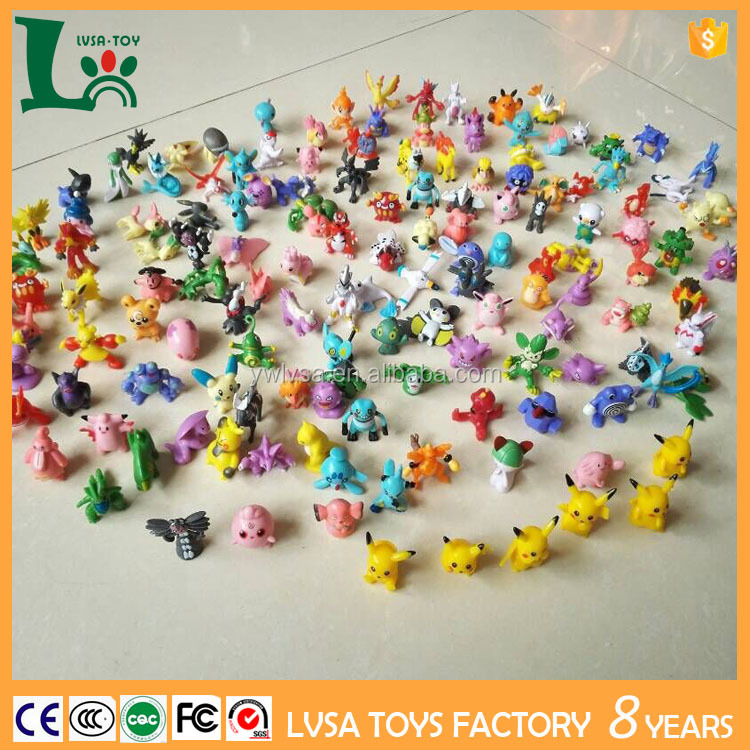 Promotional Toys Plastic Pokemon Toys Cartoon Action Figure For Wholesale