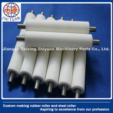 PU lamination polyurethane rubber coated plastic roller with steel shaft