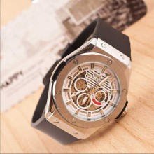 Men sport luxury watch mechanical automatic silicone watch