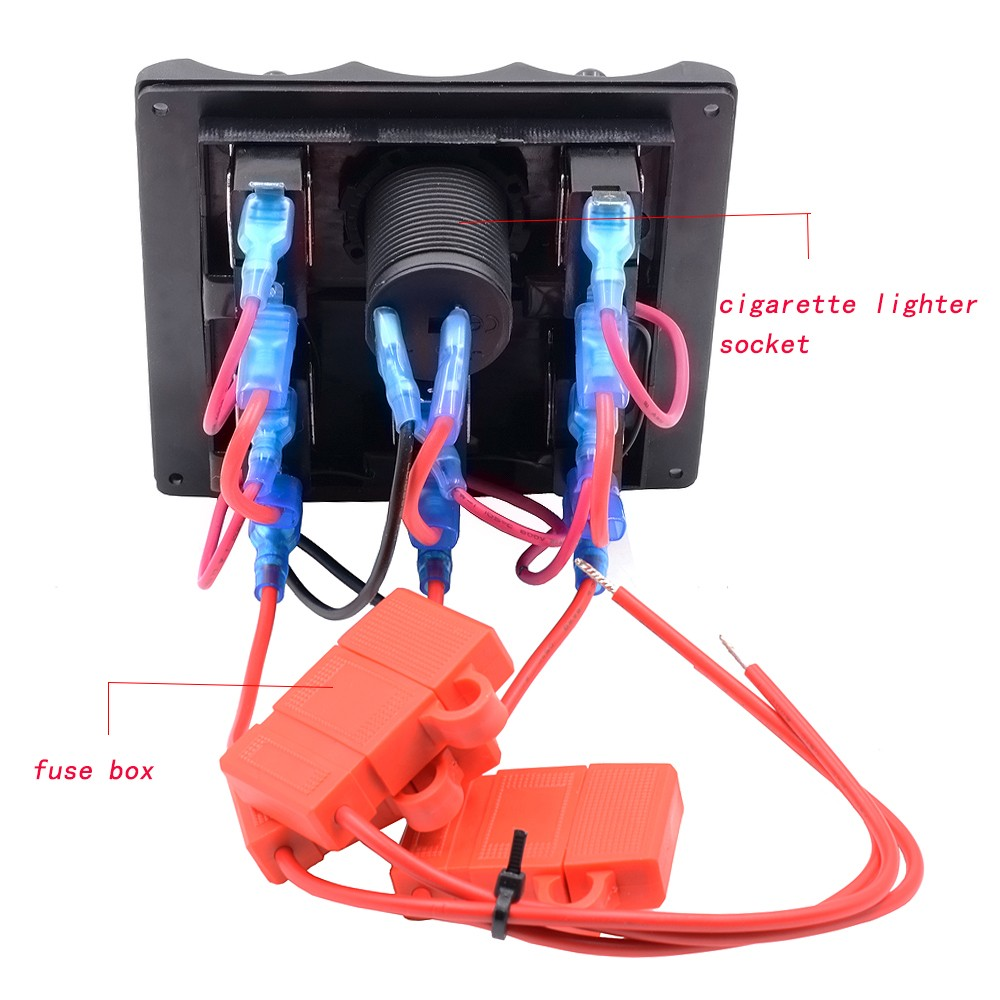 Excellent Boat And Rvs Pn Tf5j S Marine Electric 5 Gang Led Toggle Jet Fuse Box 6