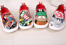 FC2567 latest design children canvas shoes Fashion graffiti boys lazy shoes