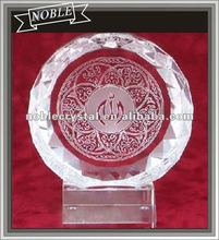 Noble Islam Crystal Circle Paperweight