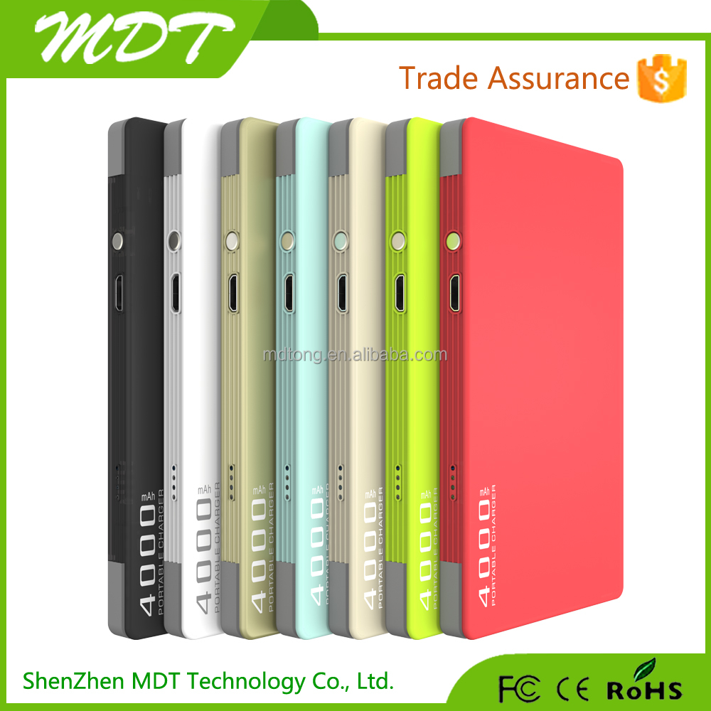Made in China Alibaba 4000mah built in cable mobile phones charger portable power bank
