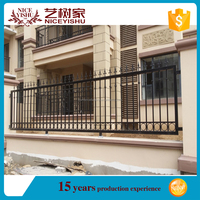 Wholesaler Power Coated Ornamental Wrought Iron Fence/Steel Fence Accessories used iron fence gate from shijiazhuang factory