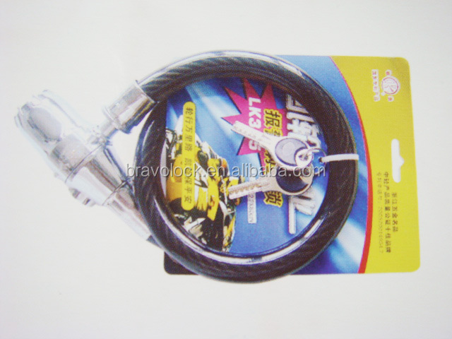 cycle alarm cable lock 2*80CM