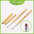 2016 BQAN New Series Golden Wood Handle Smile Brush Gel with Imported Nylon Hair Gel Brush Tip