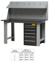 New Design steel Duty Modular garage Workbench With Drawer and hang on board