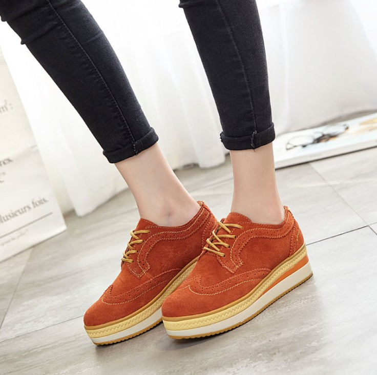 zm21376a 2106 autumn winter thick bottom casual ladies fancy shoes british wind alibaba women lady shoes