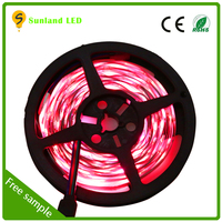 ce rohs certification red green yellow blue black continuous lenth led strip light 36w 5m rgb led strip light