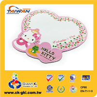For kids stationery cute rubber flexible whiteboard magnet customize