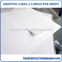 Self adhesive cast coated barcode labels sticker inkjet paper