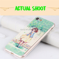China 2016 new products 3D PU leather patch soft tpu mobile phone case for iphone 6 6s 7 7 plus