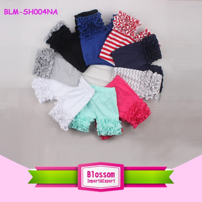 Girl shorts new various boutique wholesale bloomer shiny panties spandex diaper cover sparkle baby infant chiffon bloomers