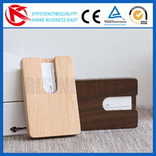 2017 New design promotion gift Wooden Business Card Case