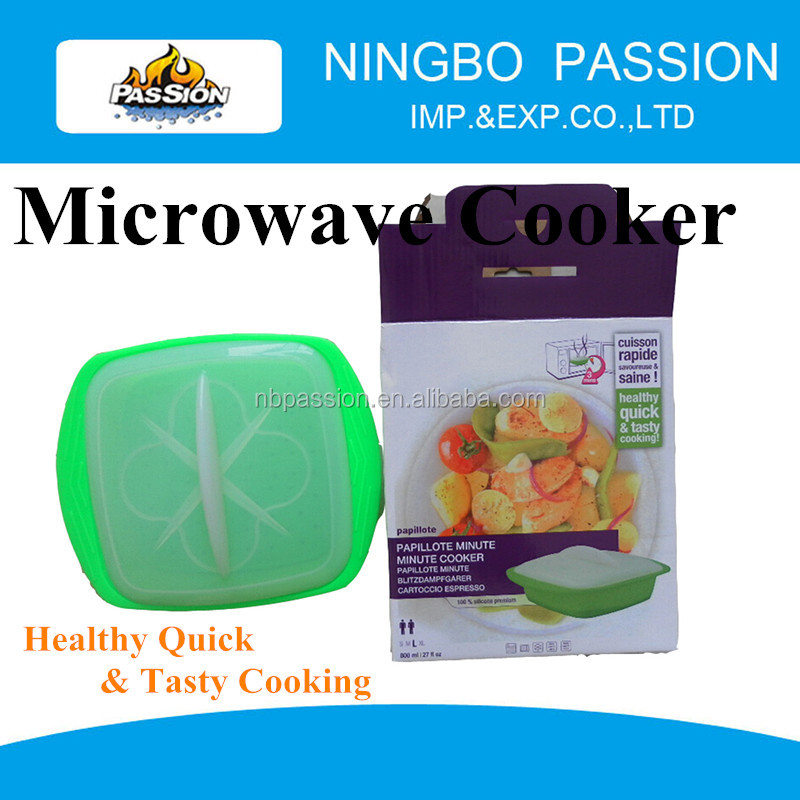 hot selling silicone microwave cooker/plastic silicone microwave rice cooker