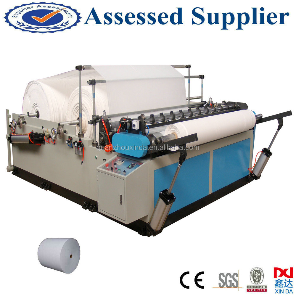 Jumbo roll paper cutting machine